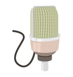 Retro microphone icon cartoon style vector