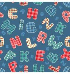 Seamless alphabet pattern vector image vector image