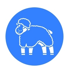 Sheep icon black single bio eco organic product vector