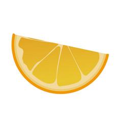Slice orange fruit tropical food image vector