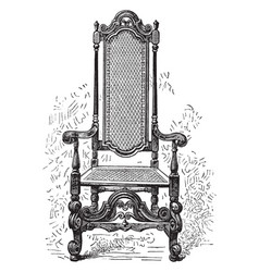 William penns chair vintage vector