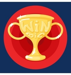 Win Cup Symbol Icon Concept on Stylish Background vector image vector image