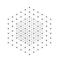 Wireframe mesh cube vector image
