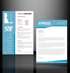 Resume - Cv Template vector image