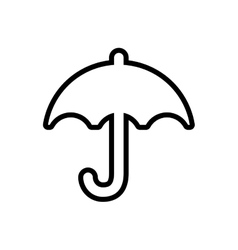 Umbrella weather rain protection icon vector