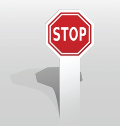 Sticker with stop sign vector