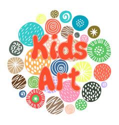Kids art hobby club design vector