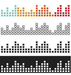 Colored volume graphic equalizer vector