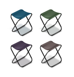 Picnic folding chairs vector