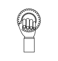 Bike gear icon vector