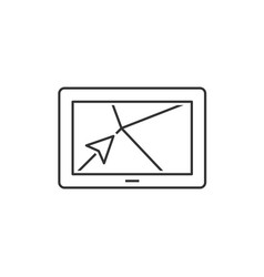Navigator outline icon vector