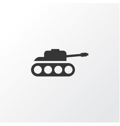 Tank icon symbol premium quality isolated panzer vector