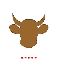 cow head it is icon vector image