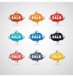 label sale vector image