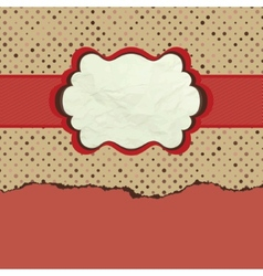 Vintage polka dot design eps 8 vector