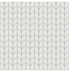 Seamless pattern with abstract hand drawn knitted vector