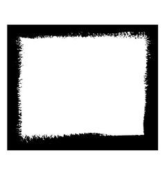 Black grunge frame vector image