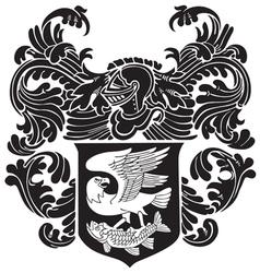 Heraldic silhouette no23 vector