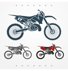 Cross motorcycle vector