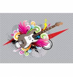 Guitar urban vector