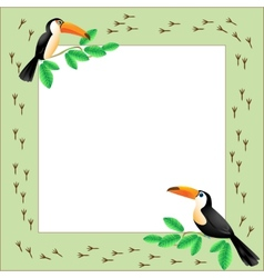 Frame with toucans vector