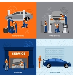 Mechanic flat set vector