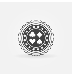 Poker badge or label vector