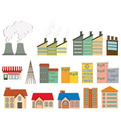 Different kind of buildings vector