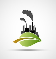 Industrial plant and leaf vector