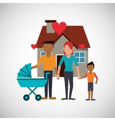 Family design relationship and home concept vector