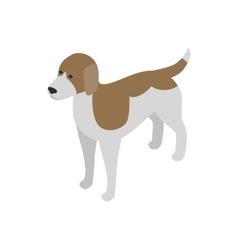 Beagle dog icon isometric 3d style vector