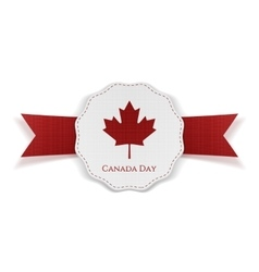 Canada day realistic red and white festive tag vector