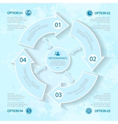abstract elements of infographics for business vector image vector image