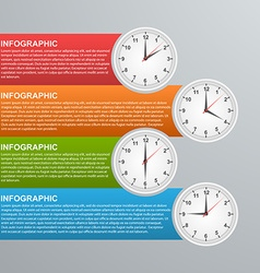 Abstract global business options infographics vector image