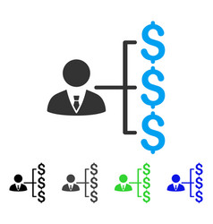 Banker payments flat icon vector