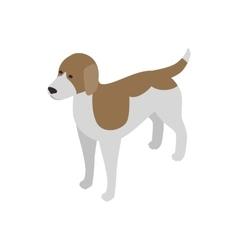 Beagle dog icon isometric 3d style vector