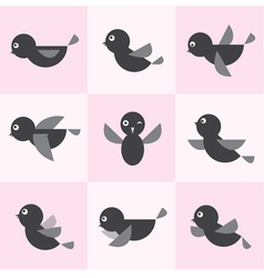 Bird group vector image