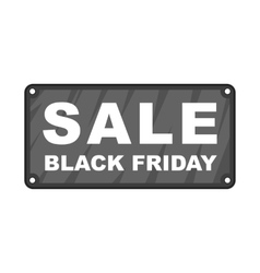 Black friday plate icon cartoon style vector