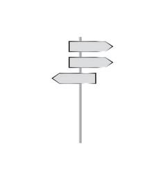 blank signpost vector image