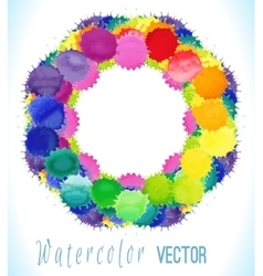 Colorful watercolor splashes vector image vector image