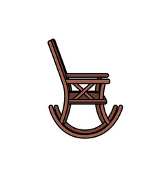 comfortable chair to relaxation object icon vector image vector image