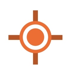 Crosshair icon design over white background vector image