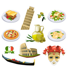 different traditional elements and symbols of vector image