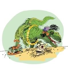 Dinosaur t rex female vector
