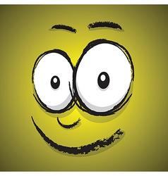 emotions yellow happy vector image vector image