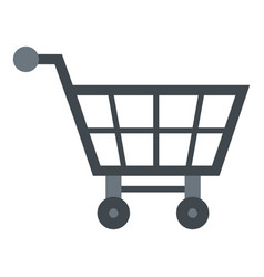 Empty supermarket cart icon isolated vector