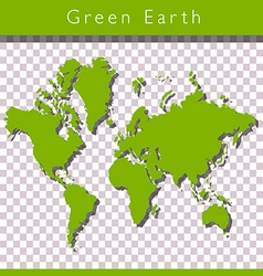 Green world map vector image