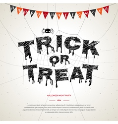 Happy Halloween trick or treat poster background vector image vector image