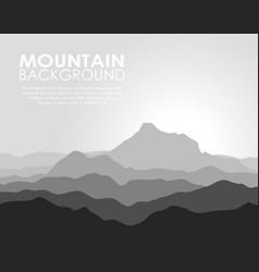 huge mountain range vector image vector image