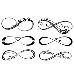 Infinity love vector image